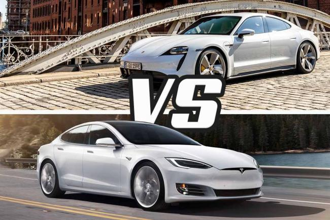 Porsche Taycan Turbo S VS Tesla Model S performance : le match des électriques