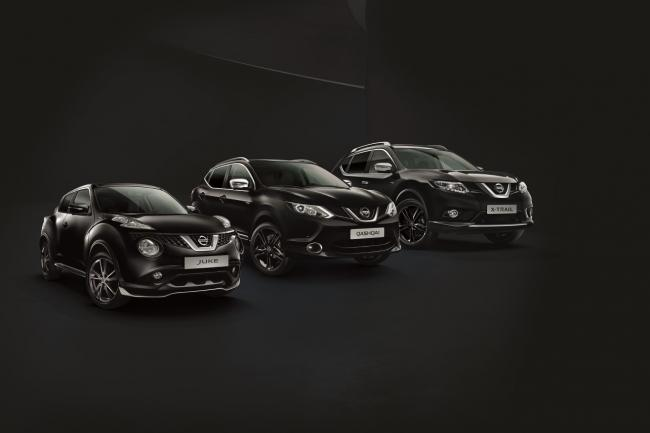 Juke qashqai x trail les crossovers nissan en version black edition