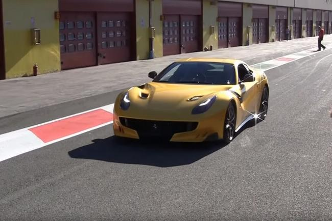 Video la ferrari f12tdf s eclate au mugello