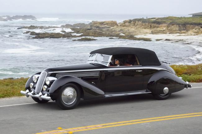 Pebble beach une lancia astura pinin farina de 1936 remporte le best of show