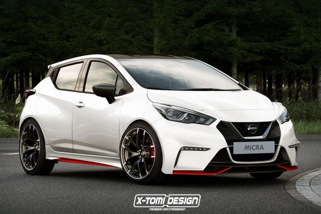 Illustration la nissan micra nismo deja imaginee
