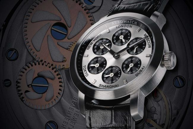 Montre aerowatch renaissance 7 time zones