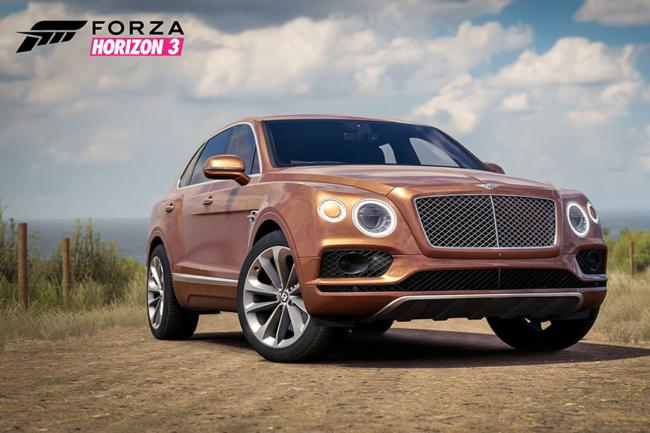 Forza horizon 3 le rockstar car pack avec le bentley bentayga