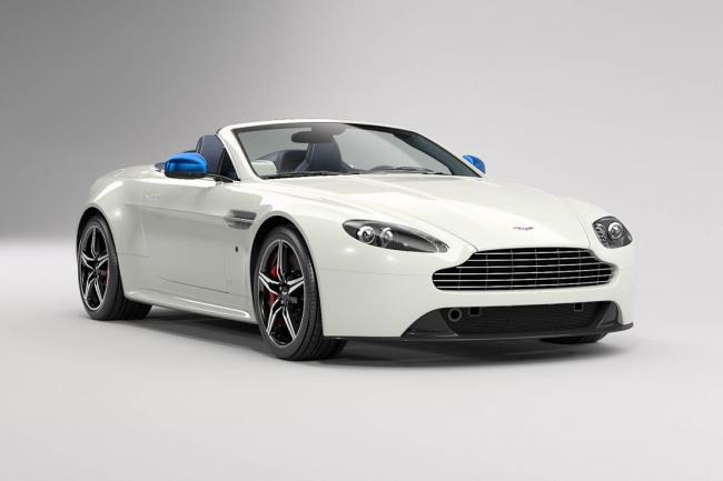 Aston martin vantage great britain vive la reine