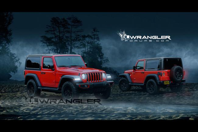 Jeep wrangler 2018 la version 2 portes imaginee