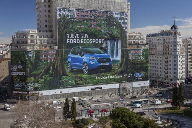 Ford ecosport une publicite record installee a madrid