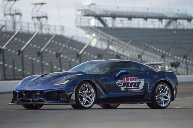 Corvette c7 zr1 pace car officielle a l indy 500