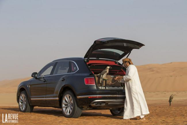 Bentley bentayga falconry mulliner pense aux fauconniers