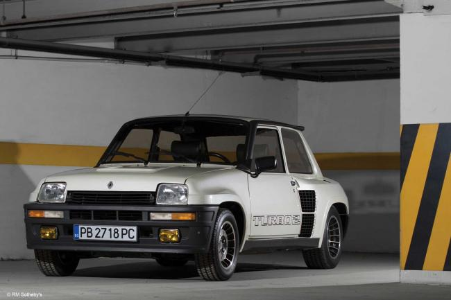 Une renault 5 turbo 2 en vente a retro mobile