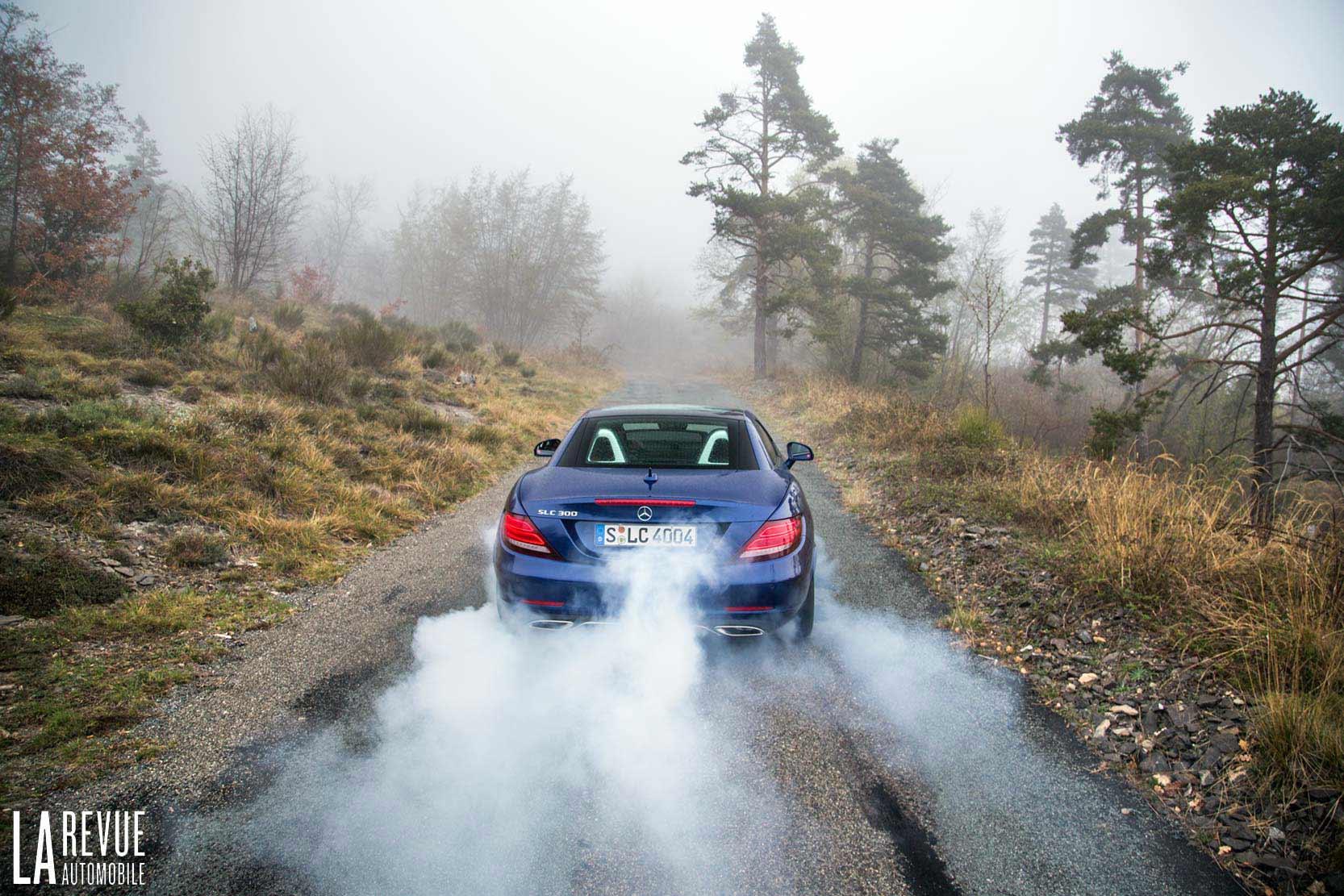 Burn avec la Mercedes SLC 300
