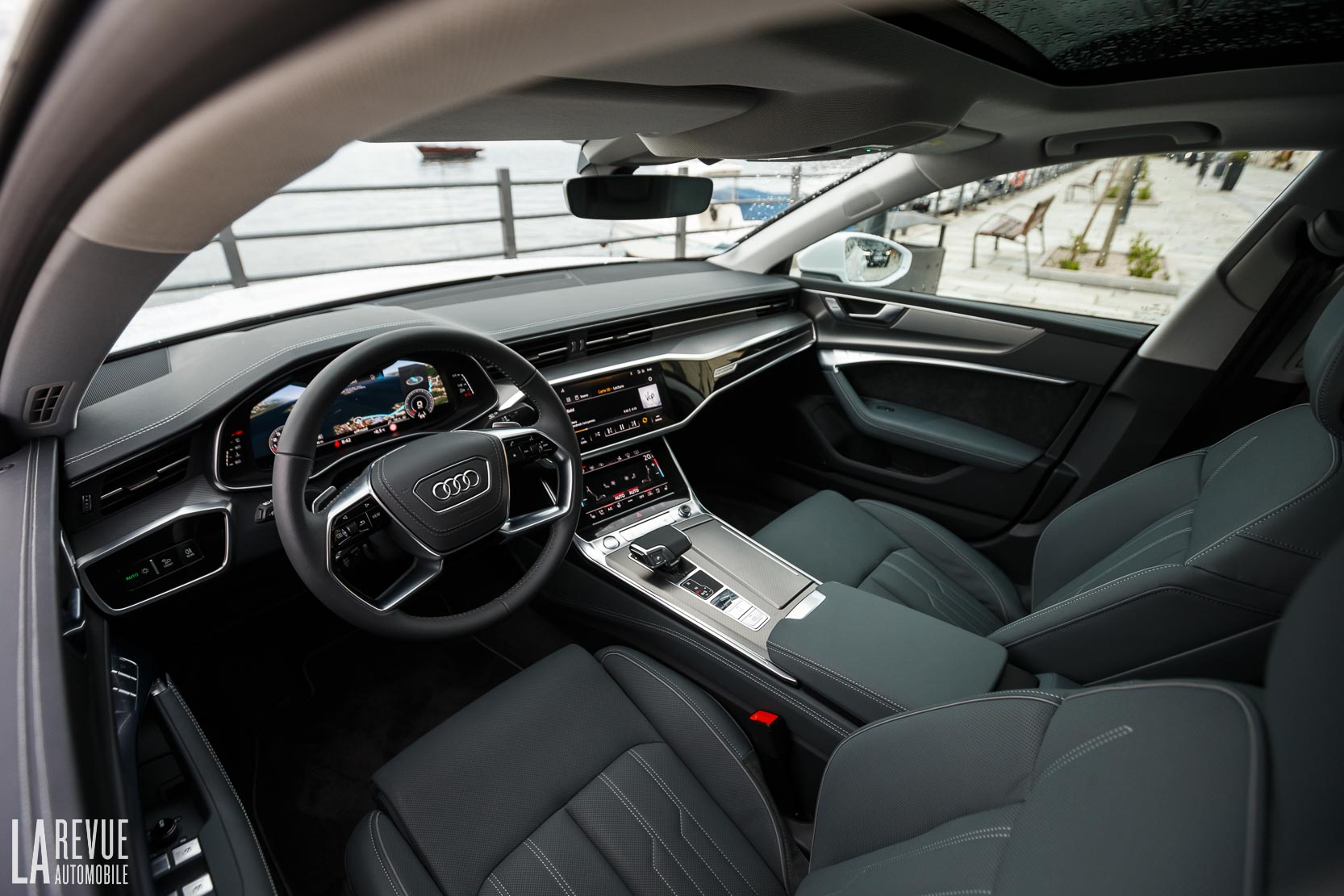 Intérieur de l'habitacle de la nouvelle Audi A7 Sportback
