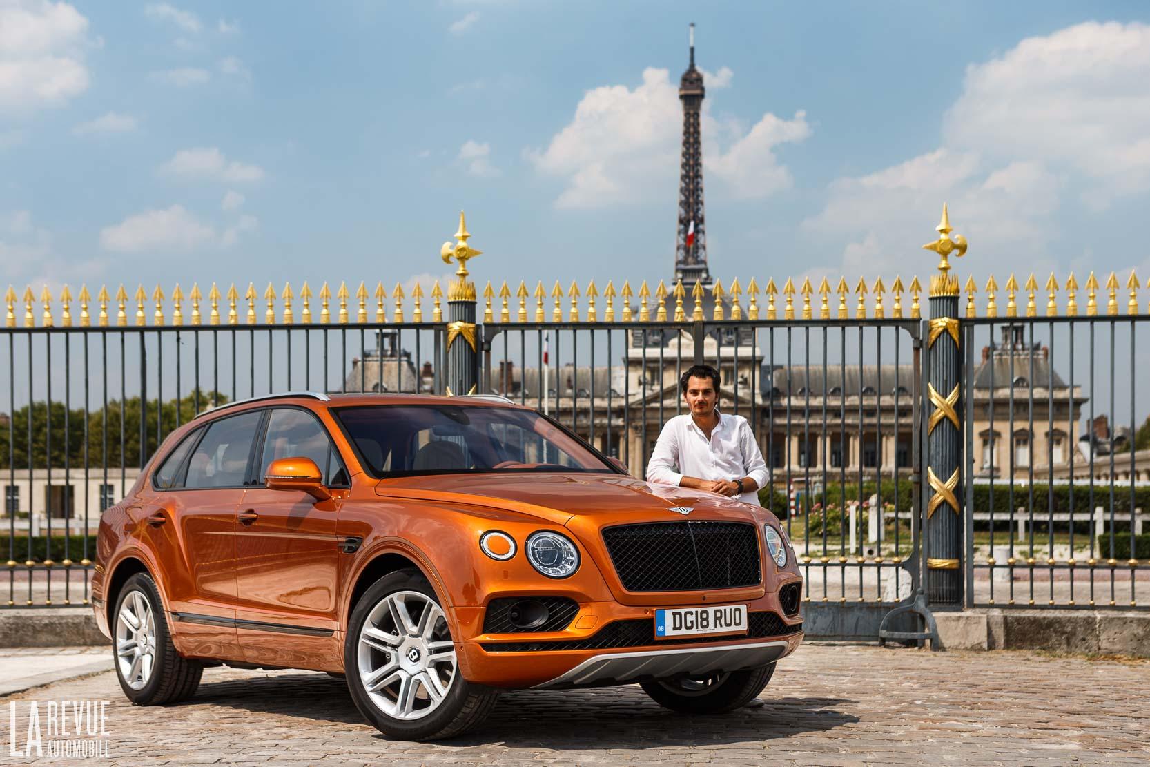 Bentley Bentayga V8 en plein coeur de la capitale : Paris