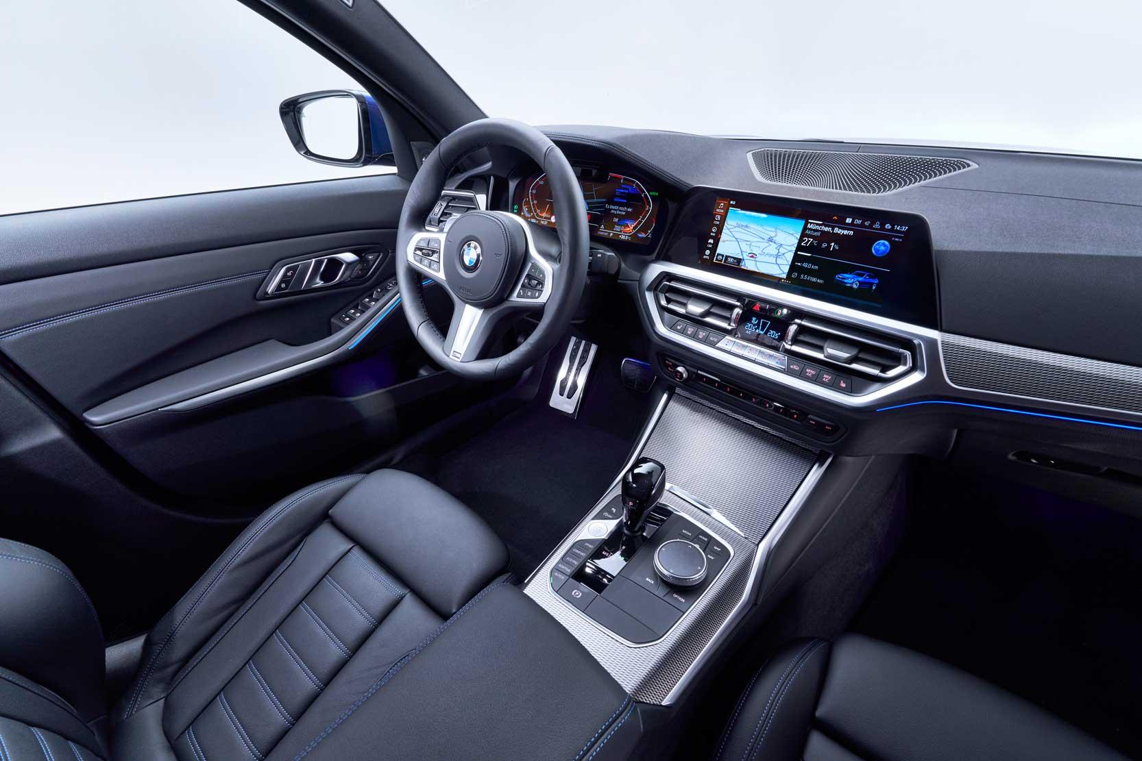 Intérieur de la nouvelle BMW Série 3 année 2019