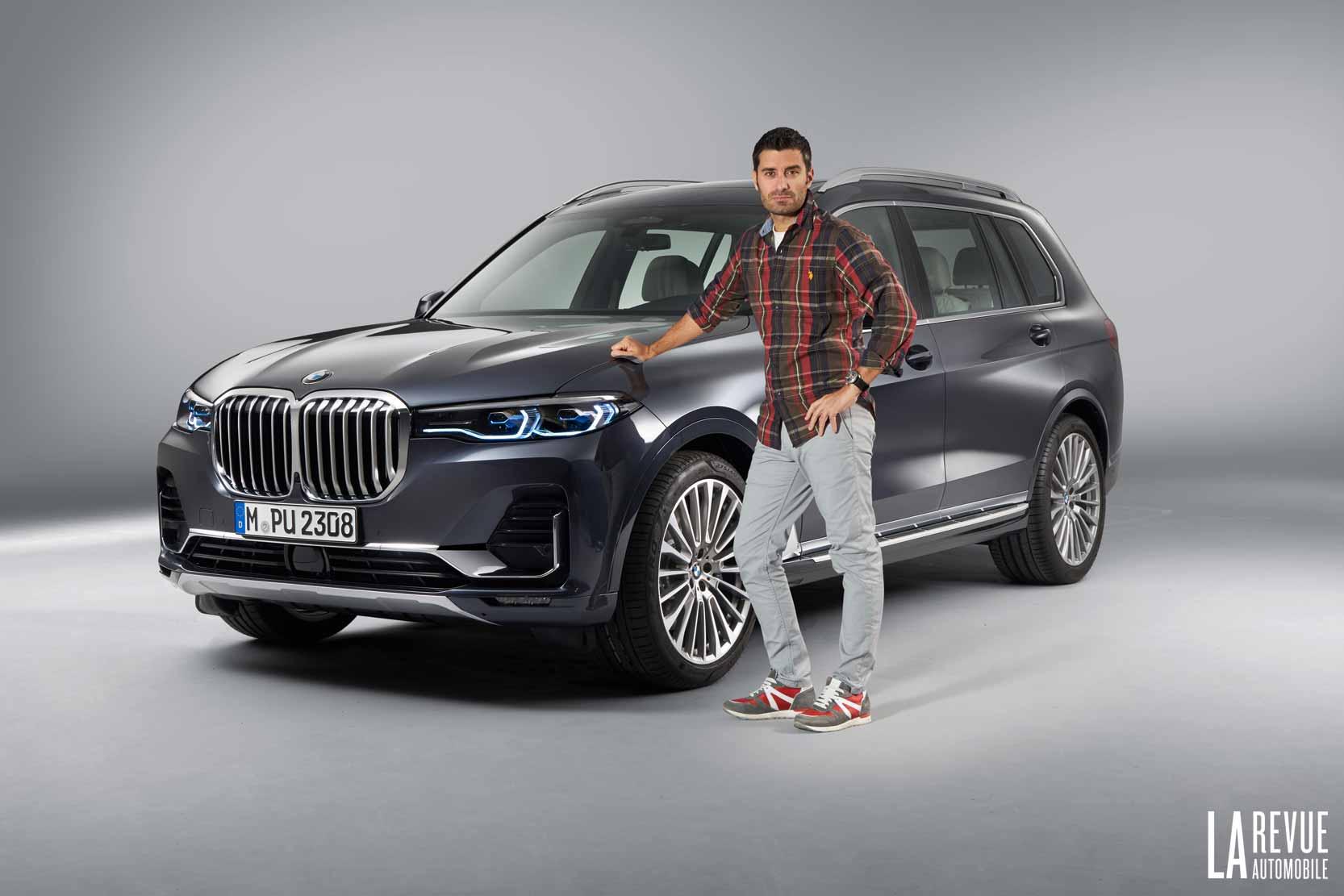 Le nouveau BMW X7 dans un Studio photo