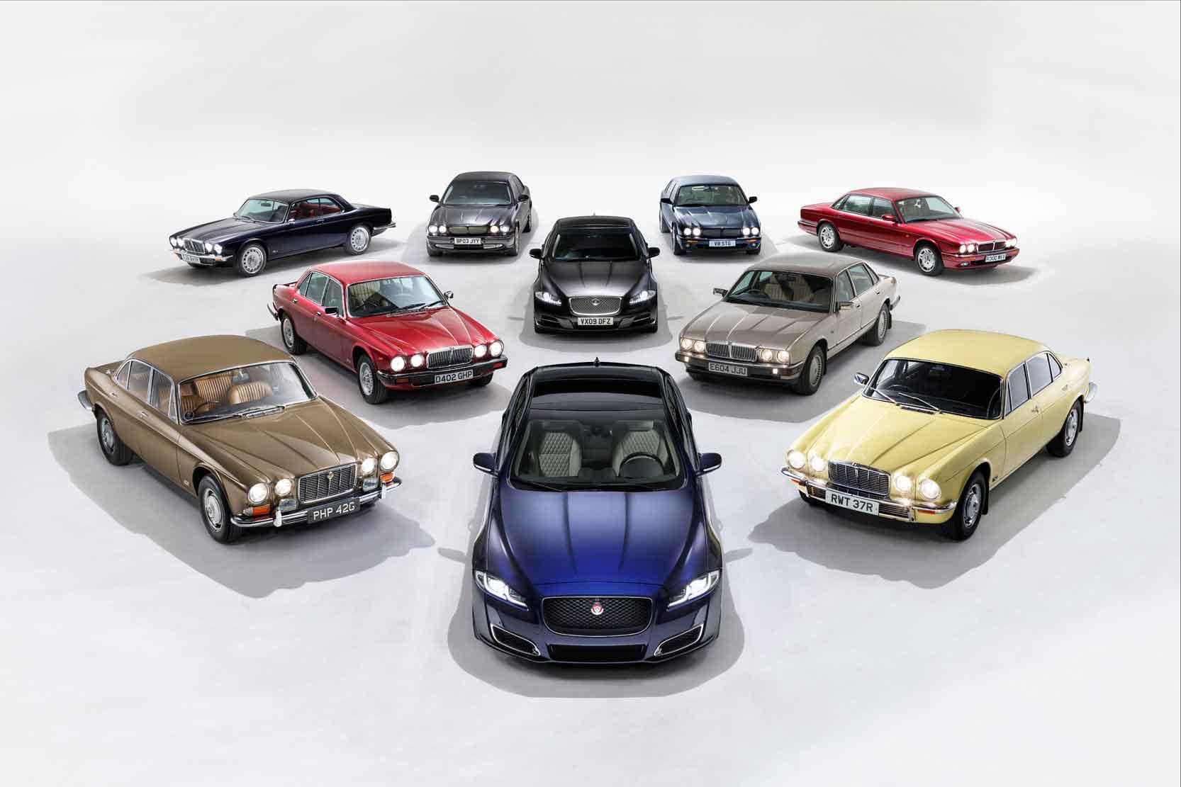Les 50 ans et les 5 générations de la limousine Jaguar XJ