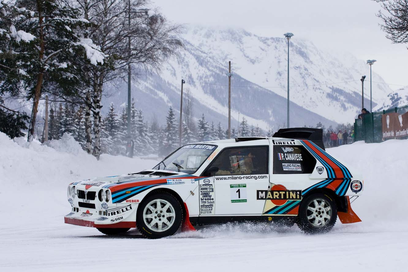Legend show la lancia s4 en demonstration avec bruno saby