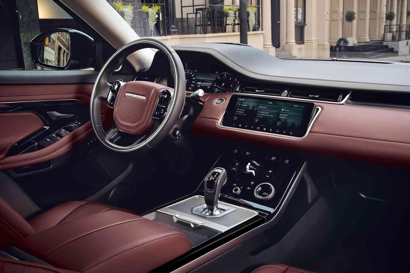Intérieur de la nouvelle Range Rover Evoque 2019