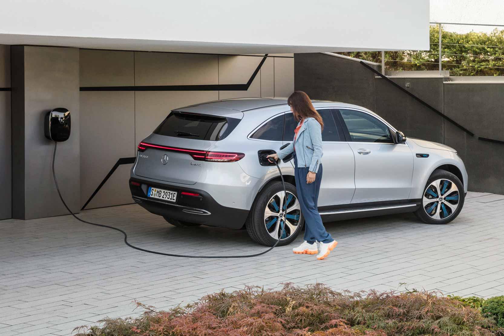 Comment recharger le SUV électrique de Mercedes l'EQC