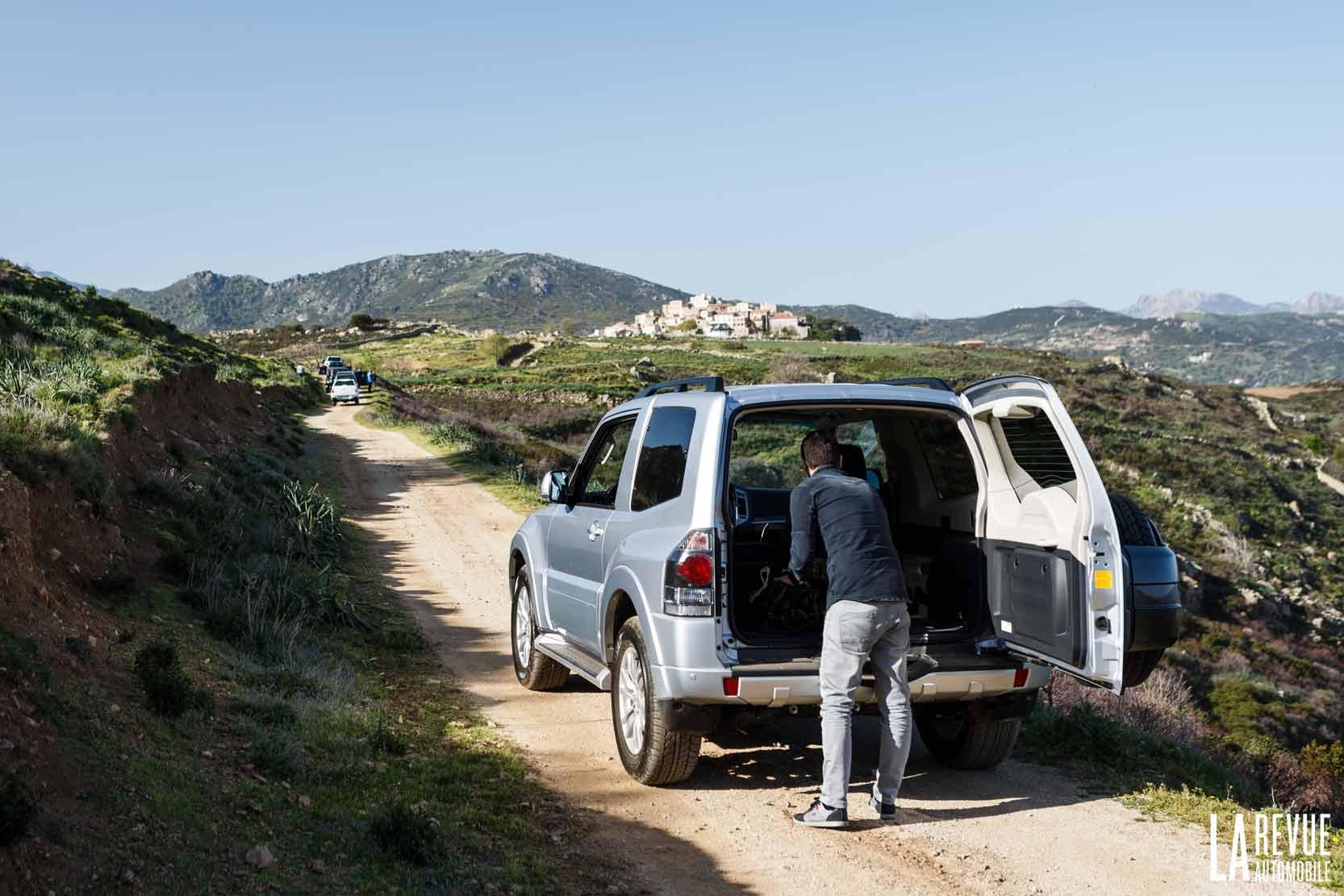 Essai du Mitsubishi Pajero, un 4x4 dans la pampa en Corse