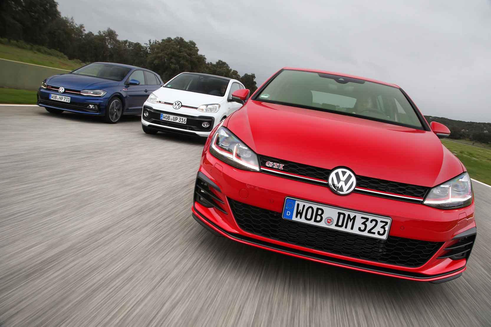 La famille de Volkswagen GTI : Golf, Polo, UP!
