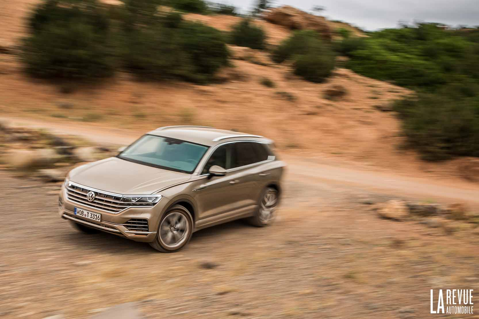 Essai du Volkswagen Touareg V6 TDI dans des pistes Offroad